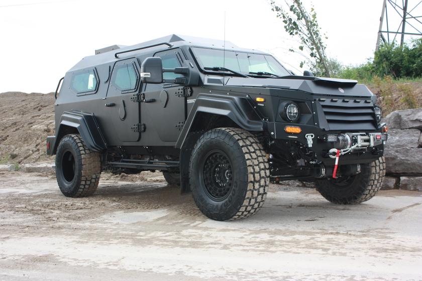 The Gurkha LAPV is designed for law enforcement applications.