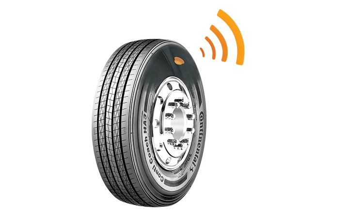 By embedding tire pressure monitoring sensors into its tires, Continental hopes to reduce the barrier for fleets intersted in sensor technology.