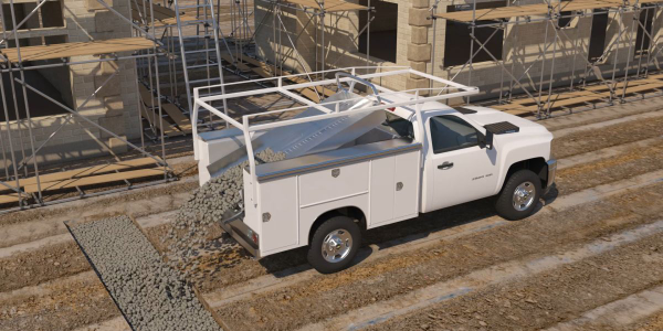 The PowerLoader can be used on pickup trucks, cargo vans, or service bodies.