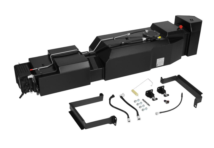The 50-gallon replacement fuel tank is ideal for fleets that want to maximize fuel capacity and driving range without sacrificing truck bed space.  - Photo courtesy of Transfer Flow