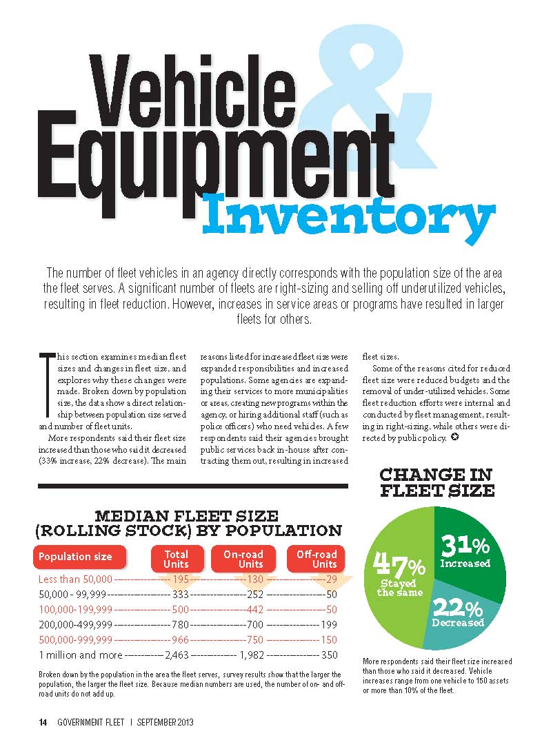 2013 Vehicle and Equipment Inventory