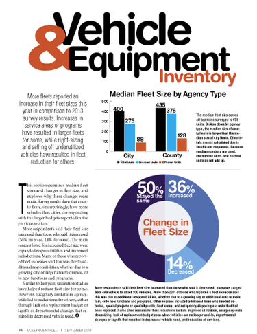 2014 Fleet Inventory and Age