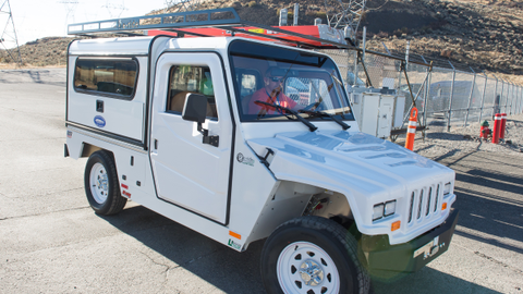 Washington Dam's Electric Utility Vehicles