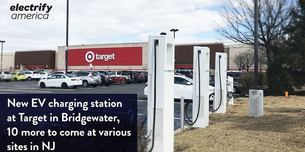 Five more charging sites in the state will be built at: townships Cherry Hill, East Brunswick;...