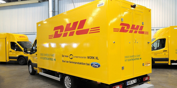 The Deutsche Post StreetScooter Work XL electric van is being produced at Ford's European...