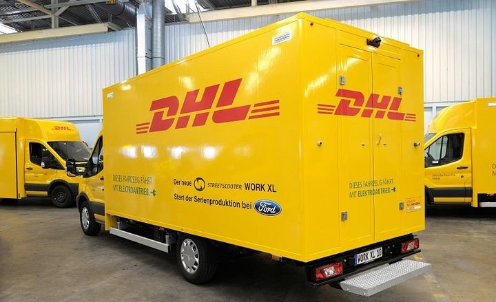 The Deutsche Post StreetScooter Work XL electric van is being produced at Ford's European headquarters in Cologne, Germany.