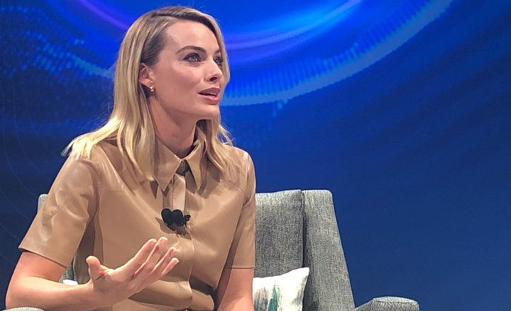 Actress Margot Robbie spoke at Nissan's Nov. 27 future trends event about her use of a LEAF as a sustainability initiative.  - Photo by Paul Clinton.