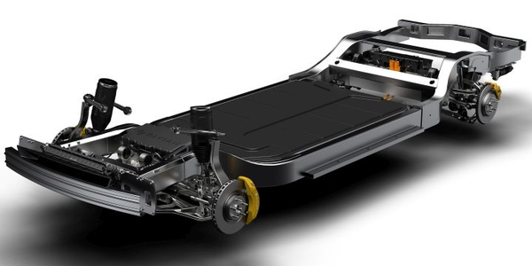 Rivian is developing a battery-electric pickup and SUV that will be based on its skateboard...