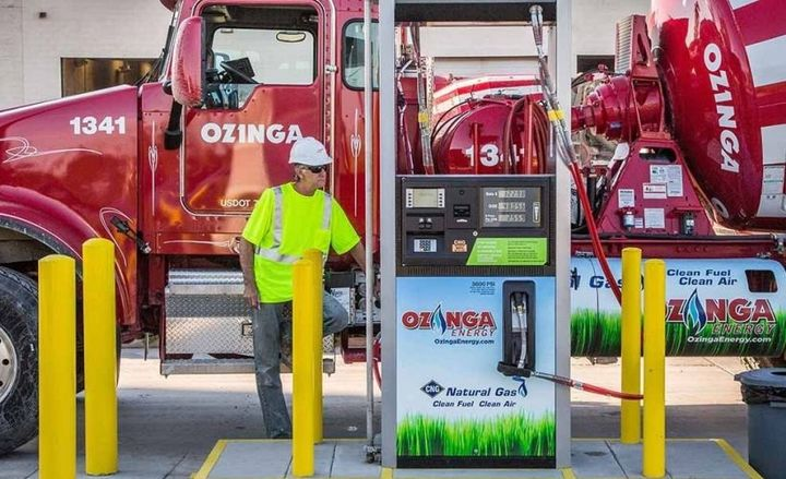 Ozinga, a building materials provider, received the Above and Beyond Award in part for having all its natural gas fueling stations pump renewable landfill gas. - Photo courtsey of Chicago Area Clean Cities Coalition.
