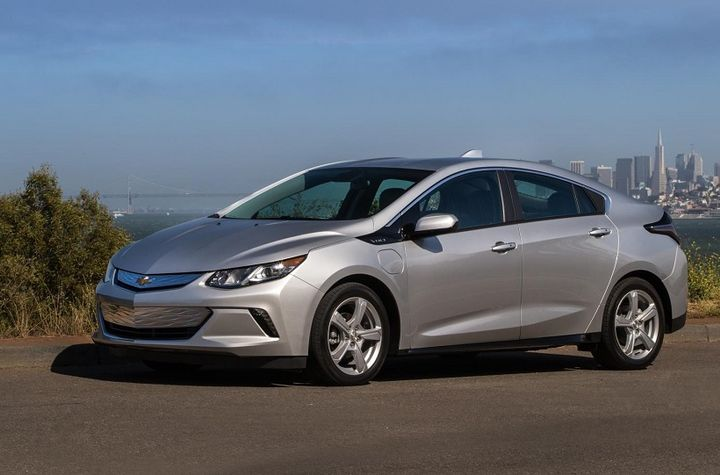 The 2019 Volt's new 7.2 kW charging system can recharge the vehicle in 2.3 hours with a 240-volt outlet and supporting hardware. - Photo courtesy of Chevrolet.