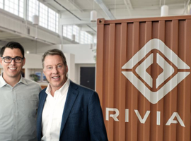 RJ Scaringe and Bill Ford (left to right) announced a new electric-vehicle partnership between...