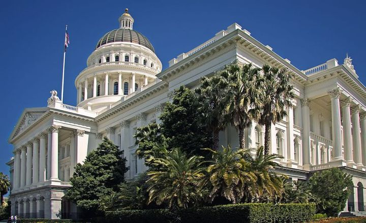 The California Air Resources Board has approved $483 million for clean transportation grants and projects.  - Photo of California's state capitol via Steven Pavlov/Wikimedia.