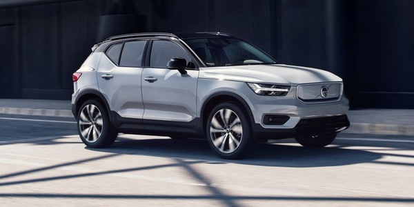 The new Volvo XC40 Recharge is the automakers' first ever fully electric car and the first model...