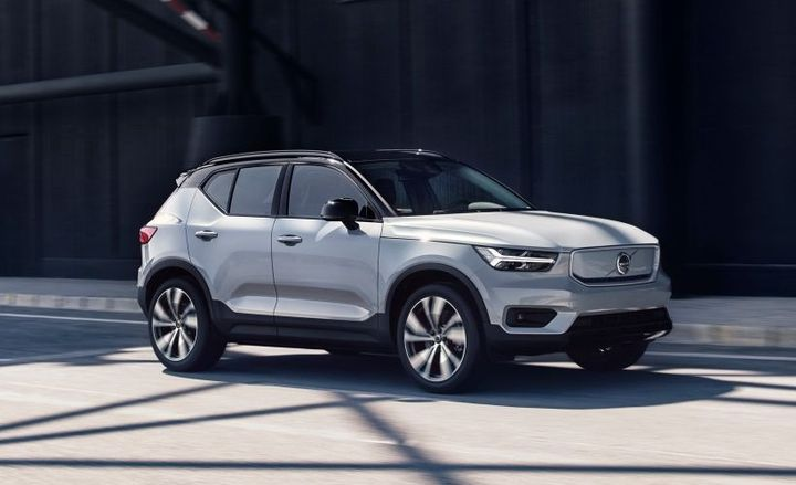 The new Volvo XC40 Recharge is the automakers' first ever fully electric car and the first model to appear in its new Recharge car line concept. Recharge will be the overarching name for all chargeable Volvos with a fully electric and plug-in hybrid powertrain. - Photo of the Volvo XC40 Recharge courtesy of Volvo.