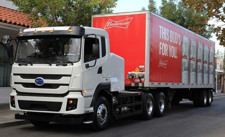 The Zero Emission Beverage Handling and Distribution at Scale project will showcase BYD's second generation 8TT Class 8 electric trucks.