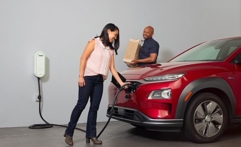 The EV charger is compatible with all electric vehicles available in the North American market today. It features a charging power of up to 7.6kW.  - Photo courtesy of Electrify America.