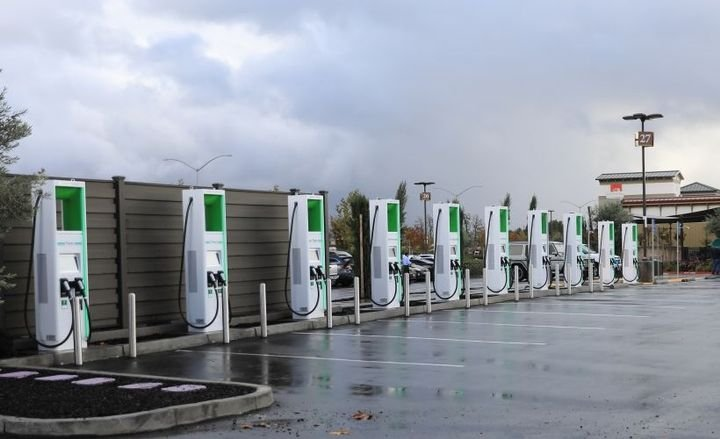 Electrify America has begun installing DC fast-chargers in North Carolina and plans to open 11 bysummer.  - Photo courtesy of Electrify America.