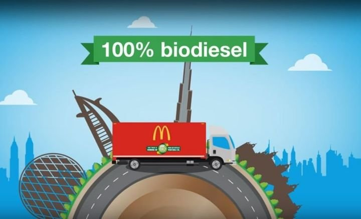 The McDonald's UAE Biodiesel Initiative aimed to focus on the benefits of using biodiesel, including the impact to air quality, in line with the UAE government's Air Quality Strategy 2017 – 2021. - Screenshot via YouTube.