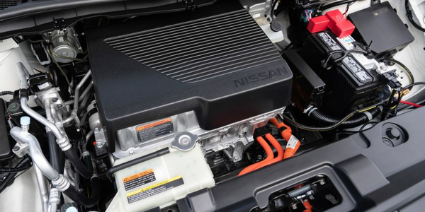 Nissan's 2019 Leaf Plus adds an upgraded 62-kWh battery pack (shown) that replaces the 40-kWh...