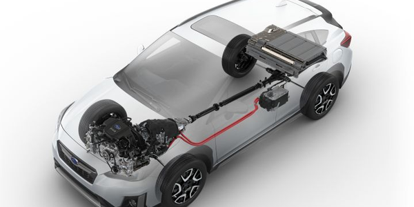 The 2019 Subaru Crosstrek Hybrid plug-in hybrid vehicle will pair a 2.0-liter gasoline engine...
