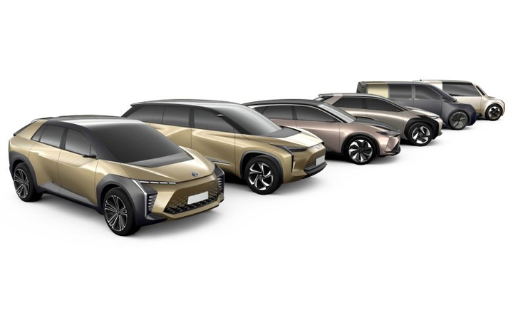 Toyota will roll out six new battery-electric vehicles from 2020 to 2025, the automaker announced.