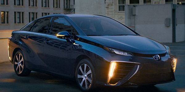 Toyota is adding new safety features to its 2019 Mirai hydrogen fuel cell sedan.
