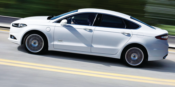 The 2014 Ford Fusion Energi SE recycles its energy with regenerative braking, which recharges...