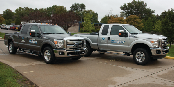 The Westport WiNG Power System is available in the popular Ford F-250 (right) and F-350 Super...