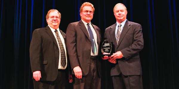 (L-R) Joe LaRosa, NAFA's international vice president, and Rick Sikes, chair of NAFA's Fuels &...