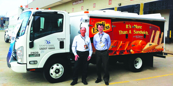 Gregg Hodgdon, CAFM, director of fleet operations at Deli Express, is shown above left with...