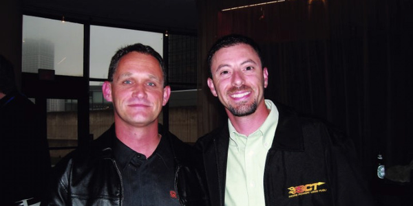 (Left) Bob Adamsky, fleet manager for Del-Air Heating & Air Conditioning worked with Charlie...