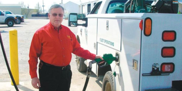 Larry Goill Award Winner David Bragg, fleet operations superintendent for the City of...