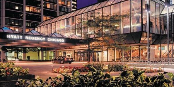 Connected to Illinois Center, the Hyatt Regency Chicago hotel is ideally situated within the...
