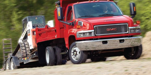 Medium-duty trucks such as this GMC Topkick can be ordered with the LPI fuel system.