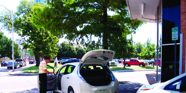 Oklahoma City's new Nissan LEAF vehicles were delivered on Aug. 16. Bill Hager, fleet services...