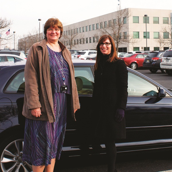 Donna Bibbo, CAFM, manager of Fleet & Travel for Novo Nordisk (left), oversees a staff of four, which includes Jennifer Cole, senior fleet associate.