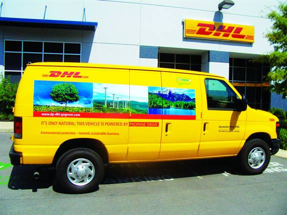 DHL Express recently rolled out 100 ROUSH CleanTech propane-autogas vans in California, Florida, Georgia, Missouri, and Texas. The DHL fleet operates more than 4,000 alternative-fuel vehicles worldwide.