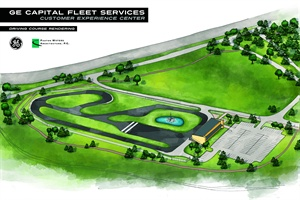 An architectual rendering (above) shows what fleet managers can expect of the experience center.