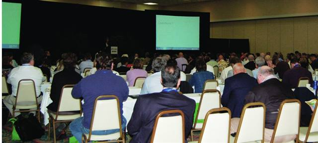 "General and breakout sessions at the 2010 Green Fleet Conference attracted large crowds. Seats filled fast, leaving ""standing room only"" for late arrivers."