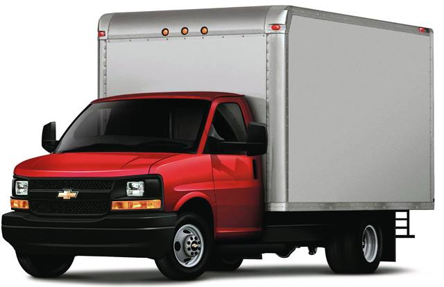 Customers can convert the cutaway into a variety of commercial requirements. Pictured is the 2011 Chevrolet Express cutaway with a cargo application.