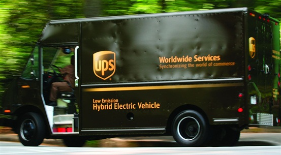 UPS announced the purchase of hybrid-electric delivery trucks as part of its green fleet initiatives.
