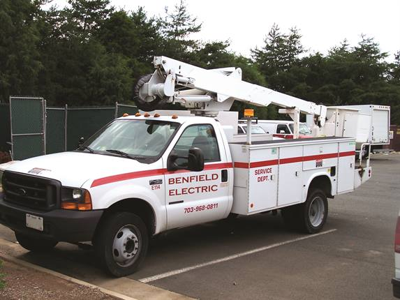 Using GPS tracking capability, Benfield Electric can schedule vehicles for jobs in the same area on a given day. The company also utilizes an idle-time report.