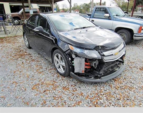 The CEI Group has worked with its 4,000-shop network to repair more than 1,200 electric vehicles, including this Chevrolet Volt. Photo: The CEI Group