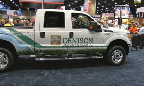 Denison Landscaping is ROUSH CleanTech's first landscaping customer to purchase ROUSH's 2012 model-year propane autogas F-250.
