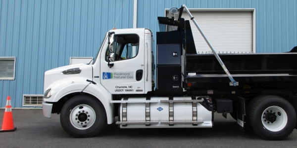 Piedmont Natural Gas utilizes compressed natural gas in its fleet of dump trucks. (Photo:...