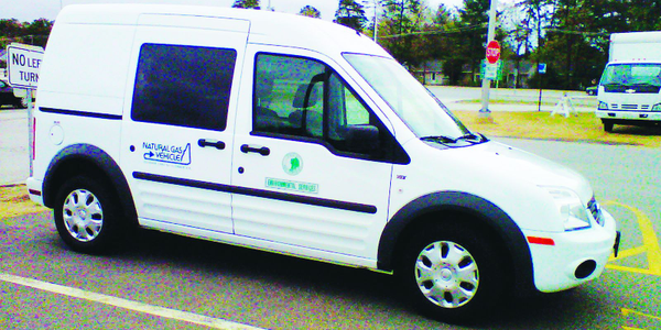 The New Hampshire Department of Environmental Services uses a CNG Ford Transit Connect for air...