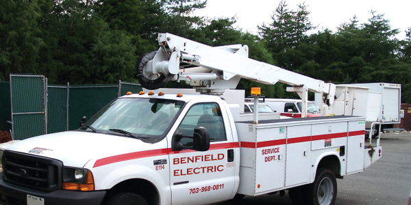 Using GPS tracking capability, Benfield Electric can schedule vehicles for jobs in the same area...