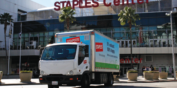 Staples currently utilizes 53 Smith Newton battery-power electric trucks in or near eight cities...