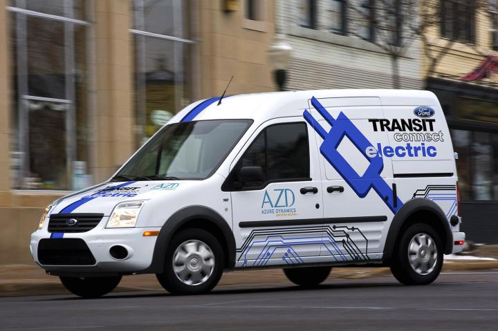 Ford Unveils All-Electric Transit Connect