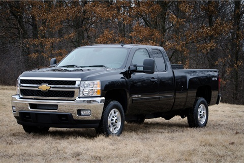The 2013 bi-fuel Chevrolet Silverado includes a compressed natural gas (CNG) capable engine that seamlessly transitions between CNG and gas fuel systems. The bi-fuel Silverado will be covered by General Motors' extensive warranty, and will meet all EPA and CARB emission certification requirements. (Photo by James Fassinger for Chevrolet)